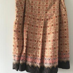 Anthropologie Tapemeasure Silk Skirt Size 10